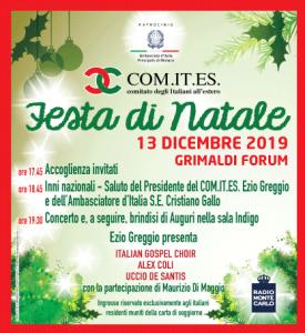 INVITO PER LA FESTA DI NATALE 2019