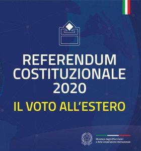 INFORMATIVA REFERENDUM COSTITUZIONALE 2020