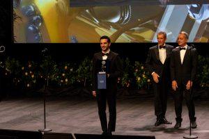 Giacomo Ferrara premiato dal Sindaco di Monaco Georges Marsan ed Ezio Greggio